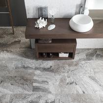 Lastra in pietra in marmo / levigata / per interni / grigia