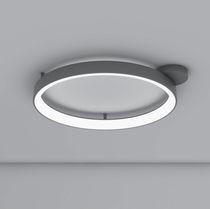 Plafoniera design originale / rotonda / in alluminio verniciato / in metacrilato