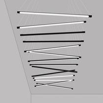 Luce a sospensione / LED / lineare / in alluminio verniciato