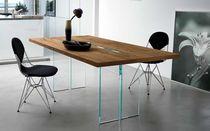 Tavolo moderno / in quercia / in noce / in legno compensato