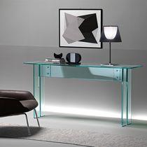 Consolle moderna / in vetro / rettangolare / trasparente