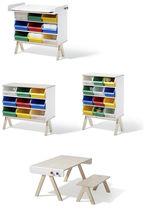 Set tavolo e sedia moderno / in legno / per bambini (unisex)