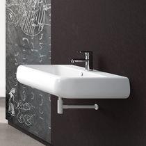 Lavabo sospeso / rettangolare / in ceramica / moderno