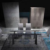 Tavolo moderno / in vetro / rettangolare / allungabile