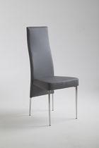 Sedia moderna / imbottita / con schienale alto / in pelle