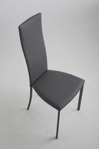 Sedia moderna / in pelle / in acciaio / imbottita