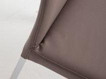 Sedia moderna / a schienale alto / in tessuto / in pelle