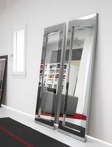 Specchio a muro / moderno / rettangolare / in acciaio inox