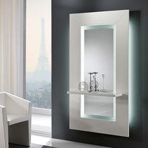 Specchio a muro / moderno / rettangolare / con ripiano