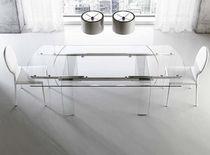 Tavolo moderno / in vetro / in alluminio / rettangolare