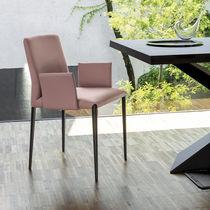 Sedia moderna / in acciaio / in tessuto / con braccioli