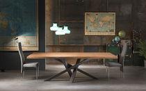 Tavolo da pranzo / moderno / in cristallo / in legno