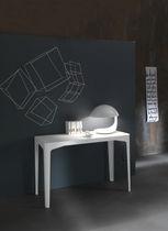 Tavolo console / moderno / in metallo laccato / rettangolare
