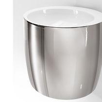 Lavabo sospeso / rotondo / in ceramica / design originale