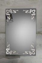 Specchio a muro / moderno / rettangolare / luminoso