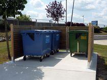 Copertura per contenitori per riciclaggio