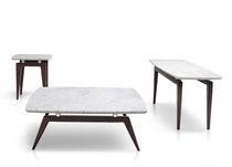 Tavolino basso / moderno / in marmo / rettangolare