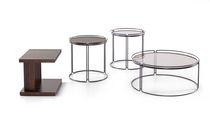 Tavolino basso / moderno / in legno / in vetro