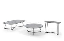 Tavolino basso / moderno / in legno / in metallo