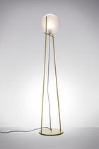 Lampada con piede / moderna / in metallo / in vetro