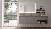 Mobile lavabo sospeso / impiallacciato in legno / moderno / con cassetti