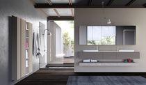 Mobile lavabo doppio / sospeso / in HPL / in composito