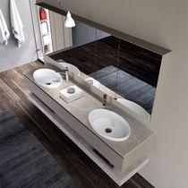 Mobile lavabo doppio / sospeso / in HPL / moderno
