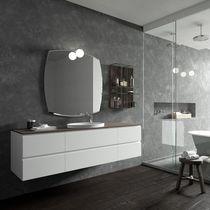 Mobile lavabo sospeso / in HPL / in vetro / moderno