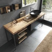Mobile lavabo da appoggio / in legno / moderno / con cassetti