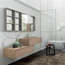 Mobile lavabo sospeso / in HPL / moderno / con cassetti