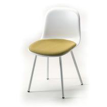 Sedia da ristorante design scandinavo / per bistrot / in acciaio verniciato / in polipropilene