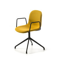 Sedia da ufficio moderna / con braccioli / girevole / in tessuto
