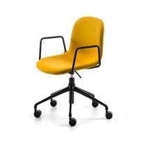 Sedia moderna / con braccioli / imbottita / con rotelle