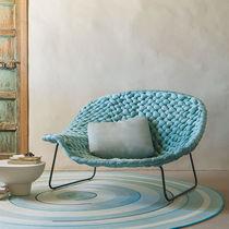Chaise longue moderna / in legno / in acciaio