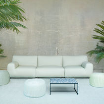 Tavolino basso moderno / in acciaio inossidabile / quadrato / da interno