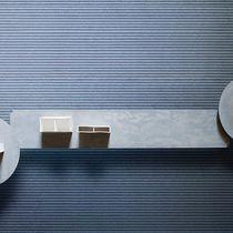 Tavolo d'appoggio moderno / in acciaio / in calcestruzzo / rettangolare