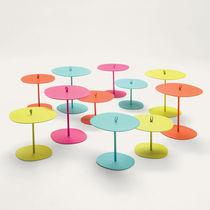 Tavolo d'appoggio moderno / in alluminio verniciato / quadrato / da giardino