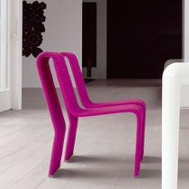 Sedia moderna / in alluminio / in acciaio inossidabile / in corda