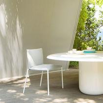 Sedia moderna / impilabile / con rivestimento rimovibile / in tessuto