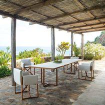 Tavolo moderno / in wengé / in alluminio verniciato / rettangolare