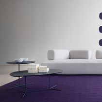 Tavolo d'appoggio moderno / in legno / in legno laccato / in acciaio