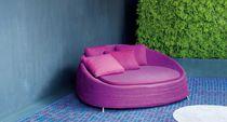 Dormeuse moderno / in acciaio inox / in poliuretano / da giardino