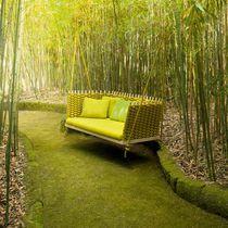 Dondolo da giardino in legno / in corda / sospeso