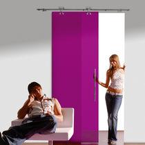 Sistema scorrevole per porte in vetro