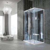 Box doccia multifunzione / in vetro / in acrilico / in acciaio