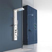 Colonna doccia termostatica / con doccia a mano / con luce integrata