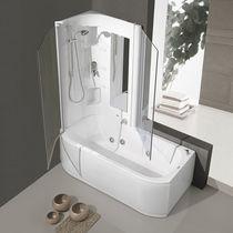 Vasca da bagno doccia da appoggio / rettangolare / in acrilico