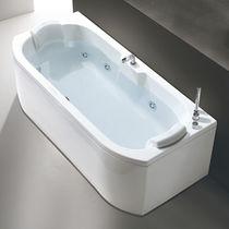 Vasca da bagno da appoggio / in acrilico / doppia / idromassaggio