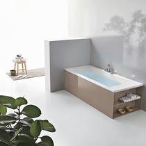 Vasca da bagno in acrilico / con armadietto integrato / idromassaggio / per cromoterapia