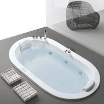 Vasca da bagno ovale / in acrilico / doppia / idromassaggio